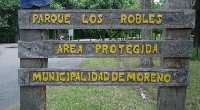 Moreno: Reapertura del Parque Municipal Los Robles