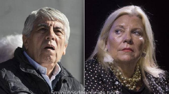 Hugo Moyano cruzó duramente a Elisa Carrió