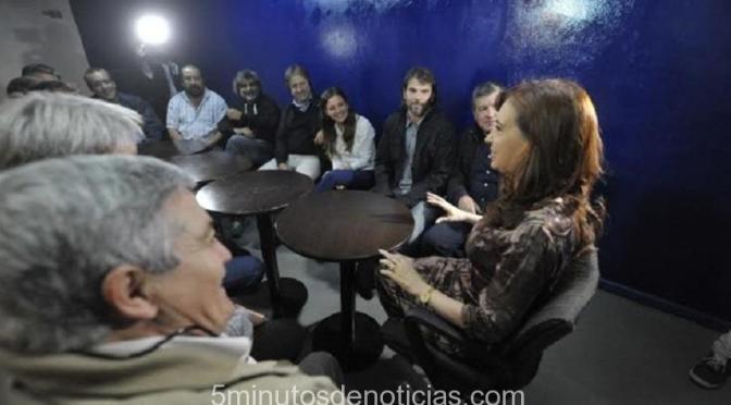 La ex Presidente Cristina Kirchner se reunió con dirigentes gremiales