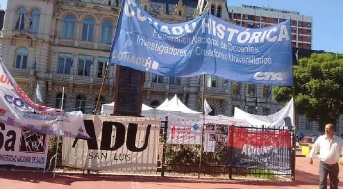 CONADU: docentes universitarios van al paro
