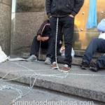 Silvio Etchehun se encadenó a la puerta de Ministerio de Hacienda