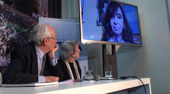 """Cristina Kirchner: """"creí que nunca más iba a vivir en un país con presos políticos"""""""