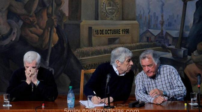 """CGT: ratificaron el """"Triunvirato para la unidad"""""""