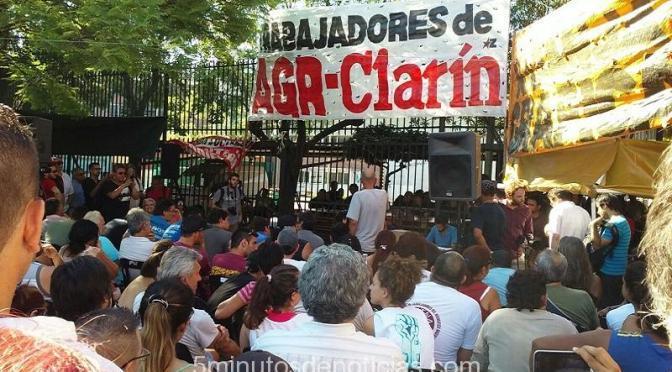 POR CONFLICTO AGR-CLARÍN CONTINÚA EL MASIVO APOYO A LOS TRABAJADORES DESPEDIDOS