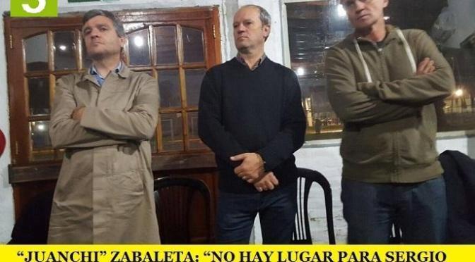 """""""JUANCHI"""" ZABALETA: """"NO HAY LUGAR PARA SERGIO MASSA EN ESTE ESPACIO"""""""