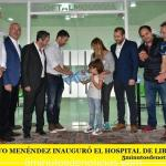 GUSTAVO MENÉNDEZ INAUGURÓ EL HOSPITAL DE LIBERTAD