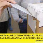 EL MIÉRCOLES 14 DE JUNIO CIERRA EL PLAZO PARA CONFORMAR LAS ALIANZAS ELECTORALES 2017