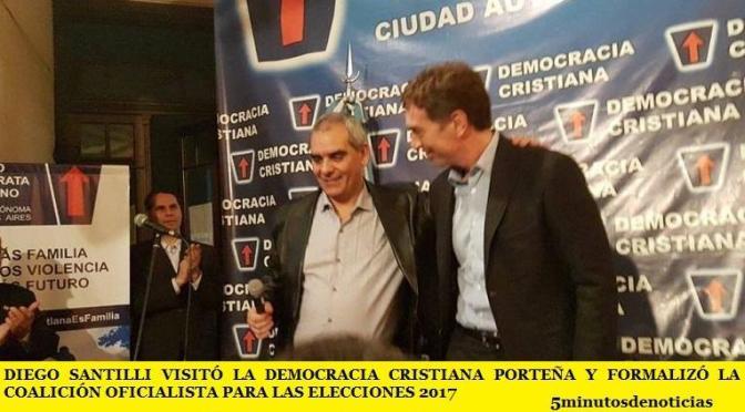 DIEGO SANTILLI VISITÓ LA DEMOCRACIA CRISTIANA PORTEÑA Y FORMALIZÓ LA COALICIÓN OFICIALISTA PARA LAS ELECCIONES 2017