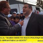 """PABLO MANSILLA: """"MARIO ISHII NO HACE POLITIQUERÍA, YA GANÓ PORQUE HACE OBRAS PARA LA GENTE"""""""