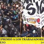 LA POLICÍA REPRIMIÓ A LOS TRABAJADORES DE PEPSICO EN EL CONGRESO