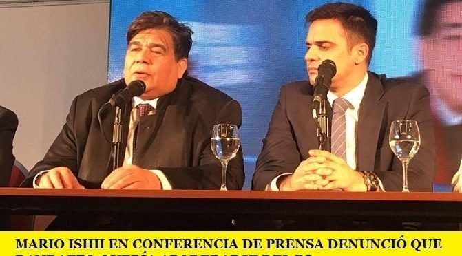 MARIO ISHII EN CONFERENCIA DE PRENSA DENUNCIÓ QUE RANDAZZO QUERÍA APODERARSE DEL PJ