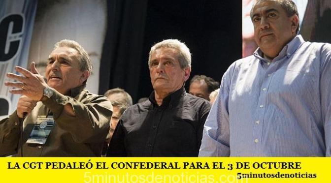 LA CGT PEDALEÓ EL CONFEDERAL PARA EL 3 DE OCTUBRE