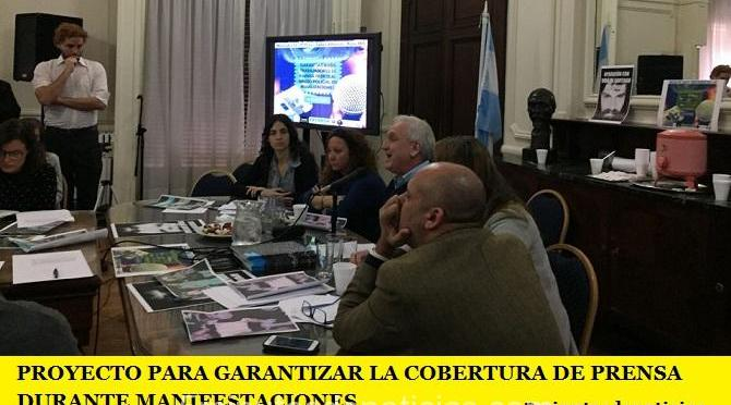 PROYECTO PARA GARANTIZAR LA COBERTURA DE PRENSA DURANTE MANIFESTACIONES