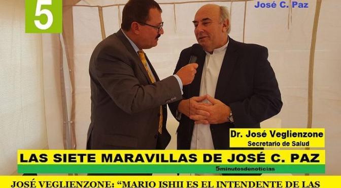 """JOSÉ VEGLIENZONE: """"MARIO ISHII ES EL INTENDENTE DE LAS OBRAS, LAS OBRAS HABLAN POR SÍ MISMAS"""""""