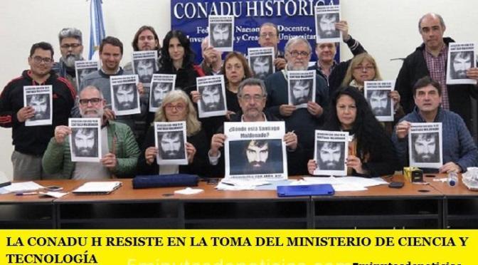 LA CONADU H RESISTE EN LA TOMA DEL MINISTERIO DE CIENCIA Y TECNOLOGÍA