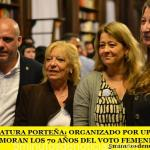 LEGISLATURA PORTEÑA: ORGANIZADO POR UPCN CONMEMORAN LOS 70 AÑOS DEL VOTO FEMENINO