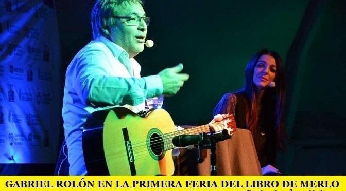 GABRIEL ROLÓN EN LA PRIMERA FERIA DEL LIBRO DE MERLO