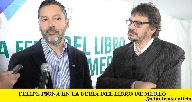 FELIPE PIGNA EN LA FERIA DEL LIBRO DE MERLO