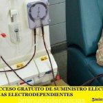ES LEY EL ACCESO GRATUITO DE SUMINISTRO ELÉCTRICO PARA LAS PERSONAS ELECTRODEPENDIENTES