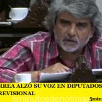 WALTER CORREA ALZÓ SU VOZ EN DIPUTADOS CONTRA LA REFORMA PREVISIONAL