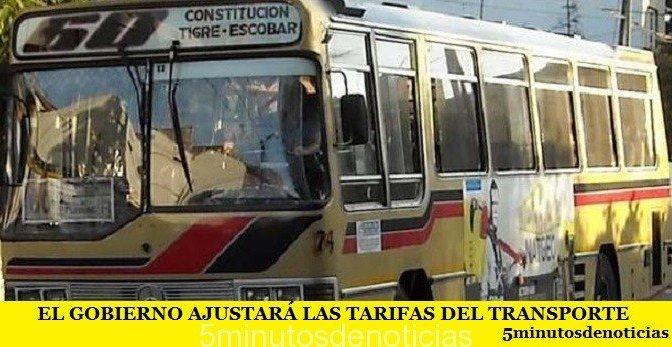 EL GOBIERNO AJUSTARÁ LAS TARIFAS DEL TRANSPORTE