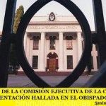 COMUNICADO DE LA COMISIÓN EJECUTIVA DE LA CEA EN VIRTUD DE LA DOCUMENTACIÓN HALLADA EN EL OBISPADO CASTRENSE