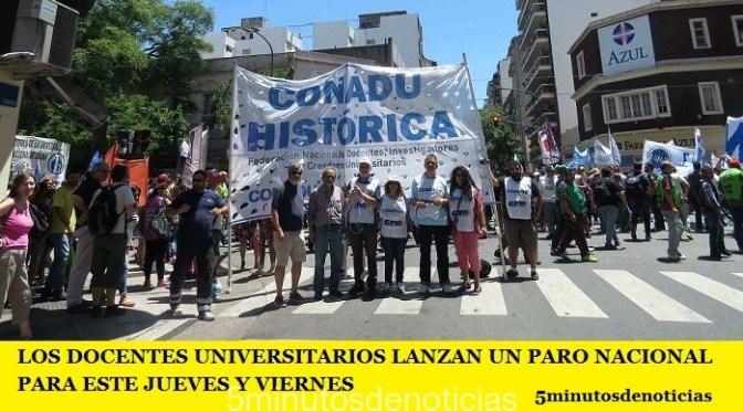 LOS DOCENTES UNIVERSITARIOS LANZAN UN PARO NACIONAL PARA ESTE JUEVES Y VIERNES