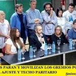 ESTE VIERNES PARAN Y MOVILIZAN LOS GREMIOS PORTEÑOS EN PROTESTA AL AJUSTE Y TECHO PARITARIO