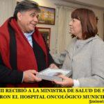 MARIO ISHII RECIBIÓ A LA MINISTRA DE SALUD DE SAN LUIS Y RECORRIERON EL HOSPITAL ONCOLÓGICO MUNICIPAL