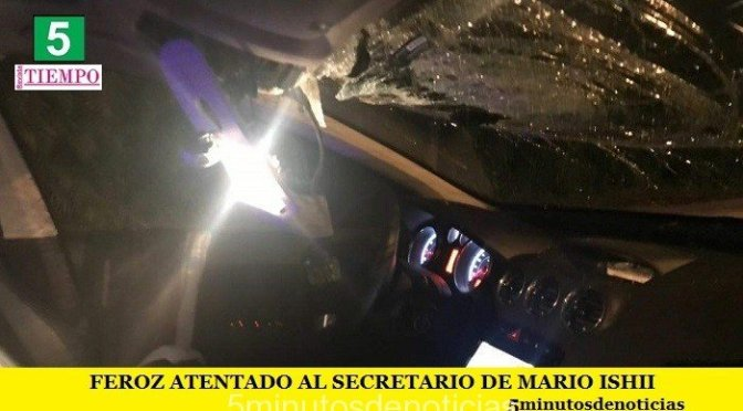 FEROZ ATENTADO AL SECRETARIO DE MARIO ISHII