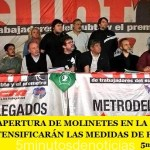 """ESTE MARTES APERTURA DE MOLINETES EN LA LÍNEA """"C"""" DEL SUBTE Y SE INTENSIFICARÁN LAS MEDIDAS DE FUERZA DE LOS METRODELEGADOS"""