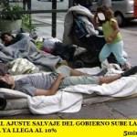 EN ARGENTINA EL AJUSTE SALVAJE DEL GOBIERNO SUBE LA POBREZA AL 33% Y LA INDIGENCIA YA LLEGA AL 10%