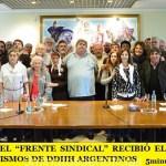 """EN SMATA EL """"FRENTE SINDICAL"""" RECIBIÓ EL APOYO DE LOS ORGANISMOS DE DDHH ARGENTINOS"""