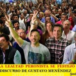 EL DÍA DE LA LEALTAD PERONISTA SE FESTEJÓ EN MERLO | ENCENDIDO DISCURSO DE GUSTAVO MENÉNDEZ