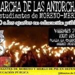ESTUDIANTES DE MORENO Y MERLO DE PIE EN DEFENSA DE LA EDUCACIÓN PÚBLICA