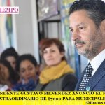 EL INTENDENTE GUSTAVO MENÉNDEZ ANUNCIÓ EL PAGO DE BONO EXTRAORDINARIO DE $7000 PARA MUNICIPALES