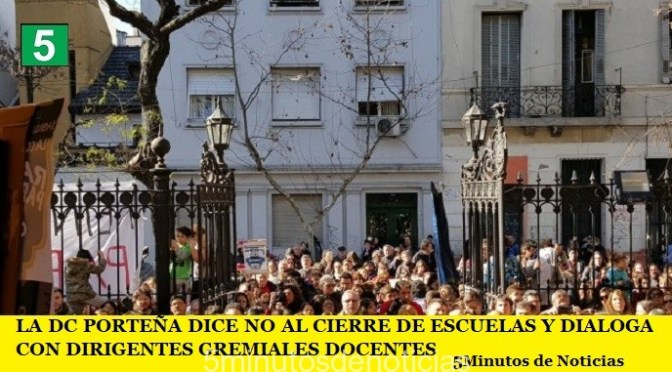 LA DC PORTEÑA DICE NO AL CIERRE DE ESCUELAS Y DIALOGA CON DIRIGENTES GREMIALES DOCENTES