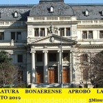 LA LEGISLATURA BONAERENSE APROBÓ LA LEY DE PRESUPUESTO 2019