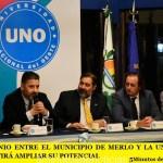 CONVENIO ENTRE EL MUNICIPIO DE MERLO Y LA UNO QUE PERMITIRÁ AMPLIAR SU POTENCIAL DE ESTUDIO