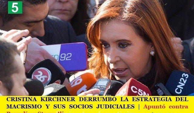 CRISTINA KIRCHNER DERRUMBÓ LA ESTRATEGIA DEL MACRISMO Y SUS SOCIOS JUDICIALES | Apuntó contra Bonadío y Stornelli