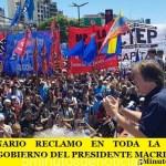 MULTITUDINARIO RECLAMO EN TODA LA ARGENTINA CONTRA EL GOBIERNO DEL PRESIDENTE MACRI