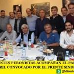 LOS INTENDENTES PERONISTAS ACOMPAÑAN EL PARO NACIONAL DEL 30 DE ABRIL CONVOCADO POR EL FRENTE SINDICAL