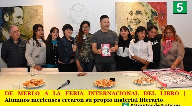 DE MERLO A LA FERIA INTERNACIONAL DEL LIBRO | Alumnos merlenses crearon su propio material literario.