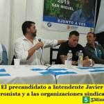 SAN MIGUEL | El precandidato a Intendente Javier Pérez reunió a la militancia Peronista y a las organizaciones sindicales