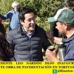 EL INTENDENTE LEO NARDINI DEJÓ INAUGURADA UNA IMPORTANTE OBRA DE PAVIMENTACIÓN EN TORTUGUITAS