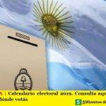 ARGENTINA | Calendario electoral 2019. Consulta aquí el Padrón para saber dónde votás
