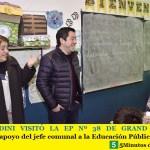 LEO NARDINI VISITÓ LA EP Nº 38 DE GRAND BOURG | Constante apoyo del jefe comunal a la Educación Pública