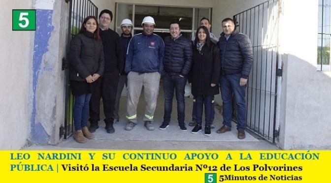 LEO NARDINI Y SU CONTINUO APOYO A LA EDUCACIÓN PÚBLICA   Visitó la Escuela Secundaria Nº12 de Los Polvorines
