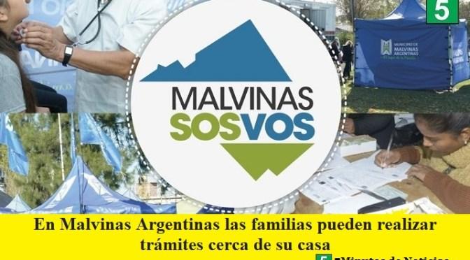 En Malvinas Argentinas las familias pueden realizar trámites cerca de su casa