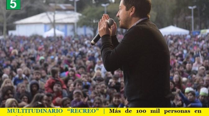 """MULTITUDINARIO """"RECREO""""   Más de 100 mil personas en Malvinas Argentinas"""